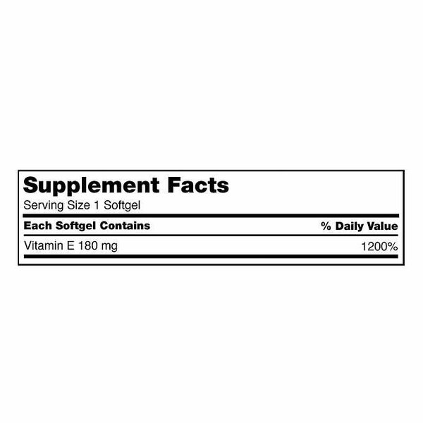 Kirkland Signature Vitamin E 180Mg, 500 Soft Gel